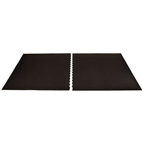 IIncStores ¾ Inch Thick Rubber Shock Absorbing Mat | Large Workout Mat for a Stronger and Safer Pro-Level Home Gym, Commercial Weight Room, or Horse Stall | 4x8 Feet, Black