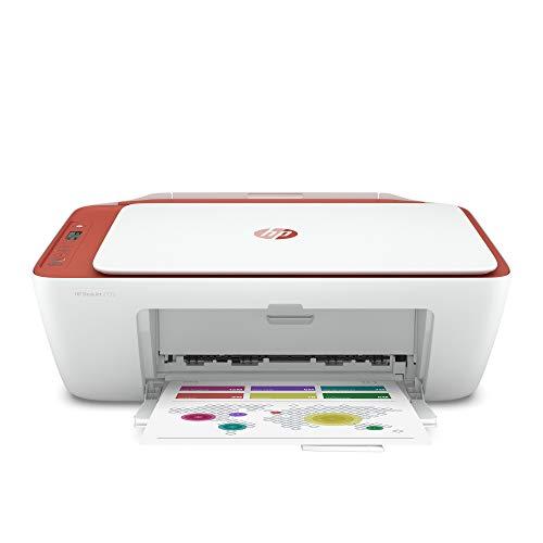 HP DeskJet 2732 Wireless All-in-One Compact Color Inkjet Printer - Instant Ink Ready, Terracotta 5AR84A (Renewed)