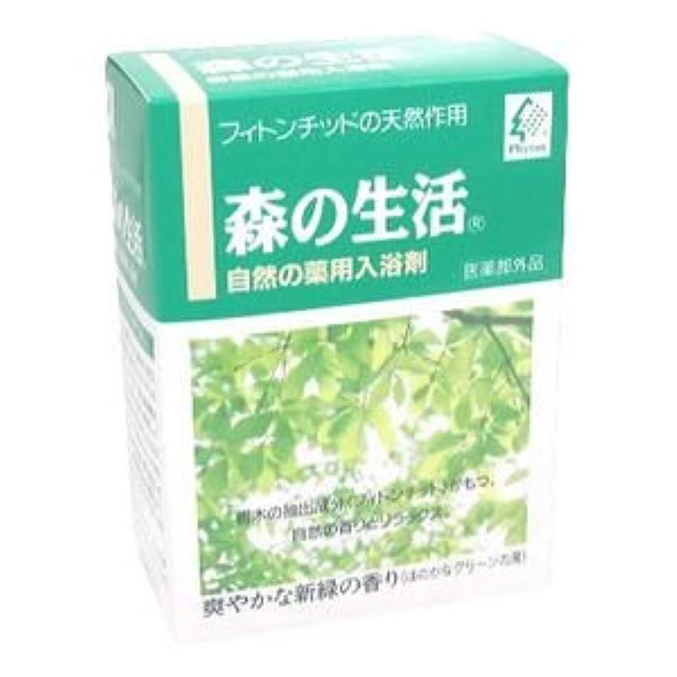 逆さまに前方へスリチンモイ森の生活 薬用入浴剤 6包入(グリーン)