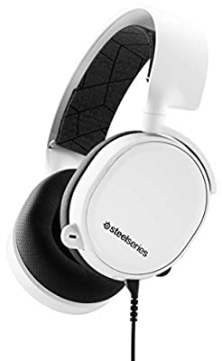 SteelSeries Arctis 3 - All-Platform Gaming Headset - for PC, PlayStation 4, Xbox One, Nintendo Switch, VR, Android and iOS - White [2019 Edition] from Steel Series