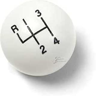 White 4 Speed Shift Knob for Muncie and Other 5/16 Thread Shifters