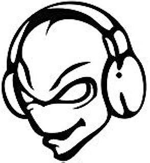 Alien Disc Jockey DJ - Cartoon Decal Vinyl Car Wall Laptop Cellphone Sticker