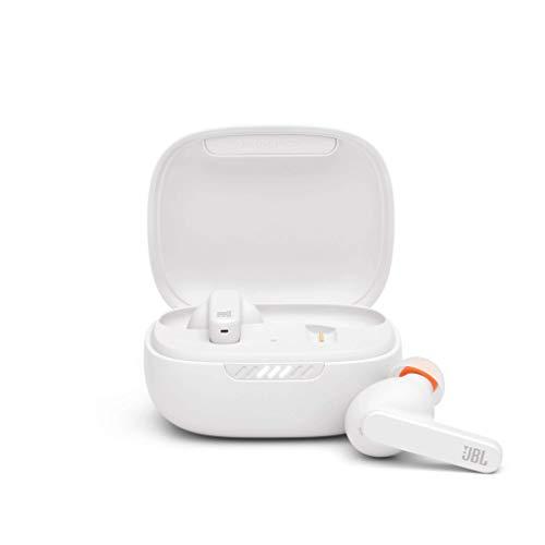 JBL LIVE PRO+ TWS Auriculares inalámbricos e intraaurales con cancelación de ruido adaptativa, hasta 28H de batería, Hey Google y Amazon Alexa, compatible con iOS y Android, blanco