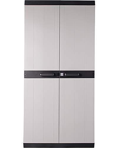 Ondis24 Kunststoffschrank Haushaltschrank Multifunktionsschrank MEGA XXL, 88 x 54 x 190 (H) cm, schnell aufgebaut, robuster Kunststoff