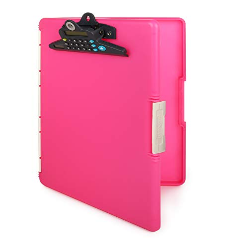 Dexas Slimcase 2 Storage Clipboard with Side Opening and Calculator, Pink (3515-J255WP)