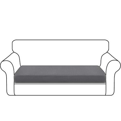Granbest Dick Sofa Sitzkissenbezug High Stretch Sitzkissenschutz für Sofa rutschfest Möbelschutz (3 Sitzer, Hellgrau)