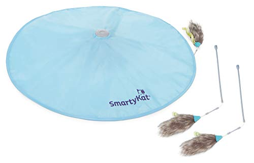 SmartyKat Hot Pursuit + 2 Bonus Replacement Wands, Electronic Motion Cat Toy, Interactive Concealed Spinning Wand, Multi-Color (32099-29995-008)