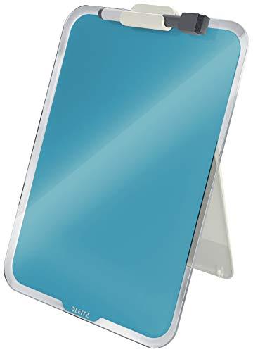 Leitz Desktop-Notizboard mit Glasoberfläche, Sanftes Blau, Cosy-Serie, 39470061