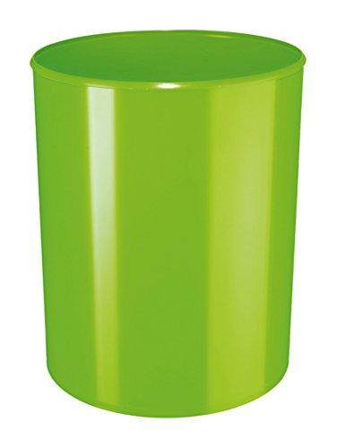HAN Design-Papierkorb i-Line – eleganter, hochglänzender und stylischer Papierkorb für das moderne Büro. 13 Liter Volumen, grün, 18132-90
