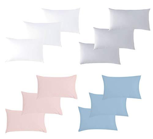 P'tit Basile Baby-Kissenbezüge, Bio-Baumwolle, 40 x 60 cm, Weiß, 100 % Baumwolle, zertifiziert Ökotex und GOTS