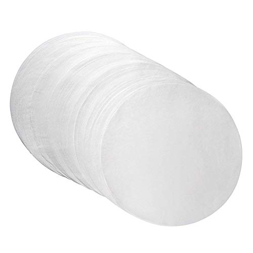 Oasis Supply Round Dry Wax Parchment Pan Liners for Cake Baking, Deep Dish Pizza, and Cheesecakes, White, 6 Inch Round, 1000 Count
