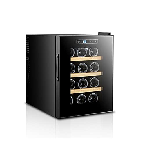 MIAOYO 12 Botellas Vinoteca,Independiente Vinoteca, Funcionamiento Silencioso Refrigerador De Vino,Control Digital De La Temperatura Vinoteca,Negro,34.5x49x47cm