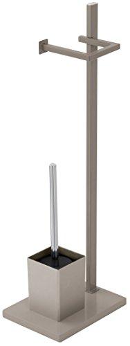 Feridras 154040 - Soporte para lámpara de pie y escobillero (18 x 24 x 73 cm), Color marrón