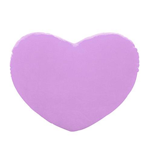 Almohada con forma de corazón de 30 cm para regalo, cojines, cojín decorativo de algodón PP, suave regalo creativo para amantes de las muñecas morado