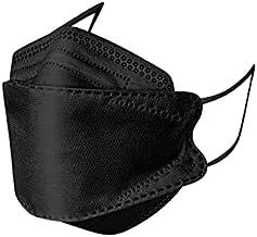 Máscaras KN95 3D KF94 Preta - Embalada INDIVIDUALMENTE - Kit de 10, 20, 30, 40, 50, 100 Unidades - 5 camadas - SOS Mascara...