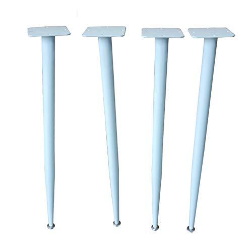 JRPT Furniture legs Tischbeine 10 cm × 10 cm × 3 Mm Dach SchrankfüßE,38 Mm × 1,2 Mm Querschnitt,Mit Justierbarem Schraube Wunderschönen/Weiß / 72CM