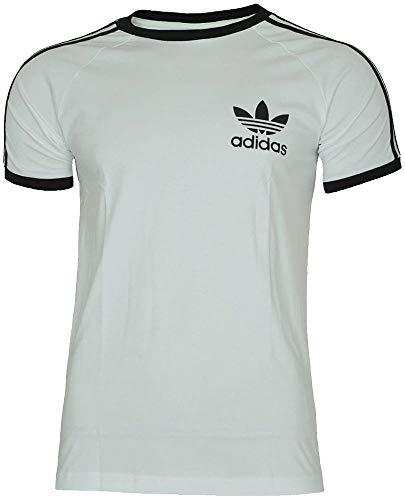 adidas Sport ESS tee Trefoil Camiseta Hombre T-Shirt Originals Retro Blanco/Negro, Tamaño:M