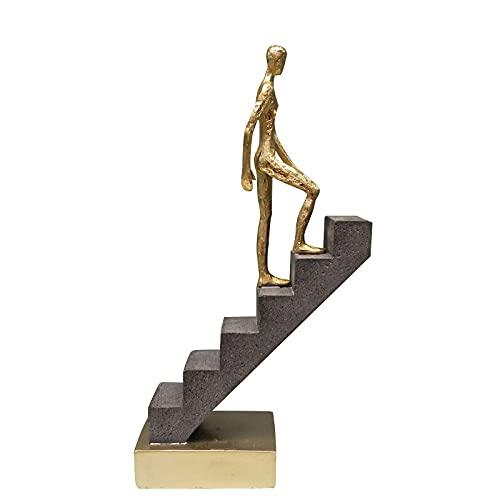 Decoración De Escritorio De Escultura,Figura Passerby Abstracta Resina Pensador Miniatura Arriba Rendimiento Arte Adorno Novedad Artesanía Estudio Decoración Accesorios De Oficina, Una Figura De P