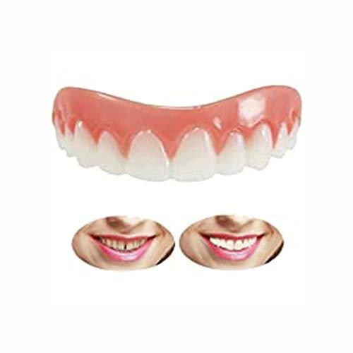 LYXG Künstliche Zähne Oberkiefer Instant Lächeln Zähne Temporäre Zahnersatz Top Perfect Lächeln Furniere, Schnelle Zahnprothese Temporäre Prothese Furnier für EIN perfektes Lächeln