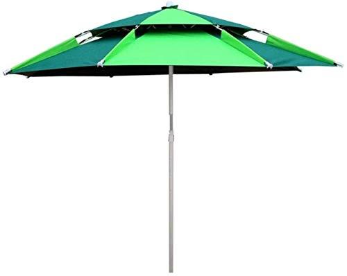WENYAO Garten Sonnenschirme Faltbarer Angelschirm Kann gekippt Werden Tragbarer Sonnenschirm (Farbe: Grün)