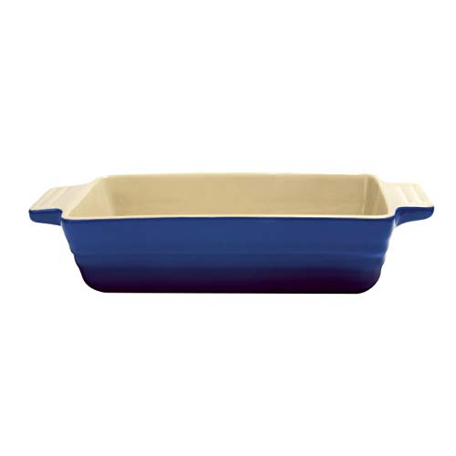 Essence - Maison Ceramic Loaf Pan 11in x 5in - Ceramic Loaf Pans for Baking Bread - Imperial Blue/Cream