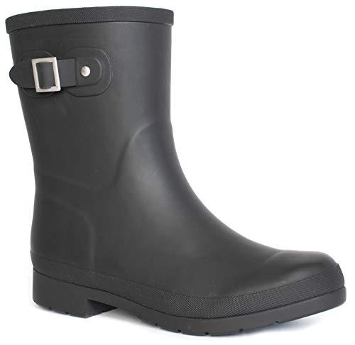Chooka Women's Solid Mid-Height Rain Boot, Delridge Black, 7