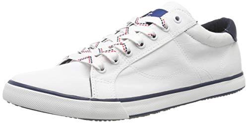 TOM TAILOR Herren 695100530 Sneaker, Weiß (White 00002), 43 EU