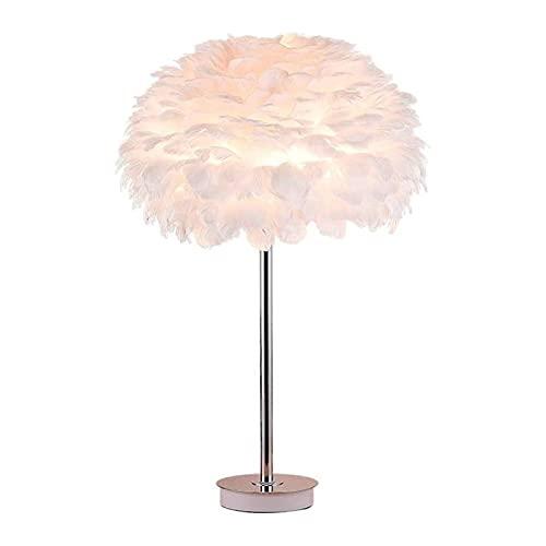 Lámpara de mesa de servicio Lámparas de escritorio Lámpara de plumas Shade White Lámpara de cama Lámpara de pie para sala de estar Habitación para niños Habitación Boda de boda o decoración de la fies