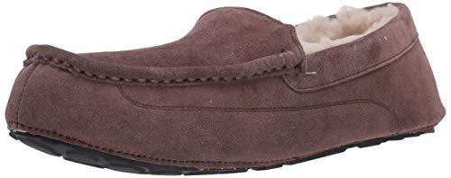 Amazon Essentials Men's Leather Moccasin Slipper, Expresso, 9 M US