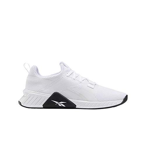 Reebok Herren FLASHFILM Train 2.0 Leichtathletik-Schuh, Weiß Weiß Schwarz, 41 EU