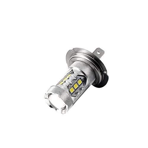 Lidahaotin 1pair 80W LED Ice Blue Super Bright H7 8000K 2828 Ampoule LED Compatible pour Feux de Croisement de phares DRL