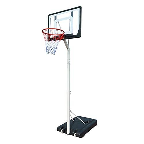 MGIZLJJ Basketballkorb Basketball Tragbare Boards, In-Ground Basketball-System Herausnehmbare Basketballkorb im Freien/Innen Einstellbare Höhe Basketball-Satz, for Kinder/Jugend/Jugendliche
