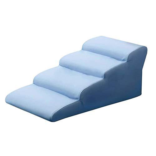 Escaliers animaux Escalier pour Chien- Bleu Comfort Dog Rampe Antidérapante 2/3/4 Escabeau Étanche pour Chiens et Chats Sofa/Lit (Size : 4-Step(High 45cm))