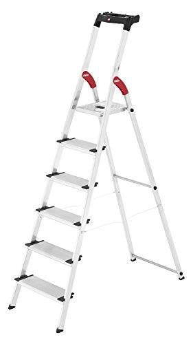Hailo xxl easyclix - Escalera domestica xxl 6 peldaños 190cm aluminio