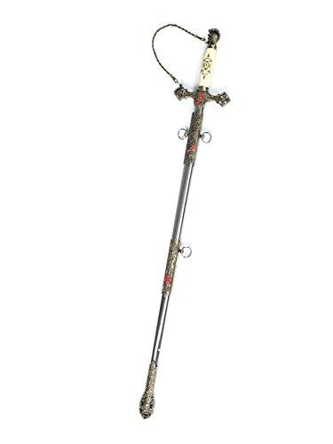 aubaho Schwert Templer Templar Tempelritter Templerorden Ritter 89cm Dekoschwert Metall