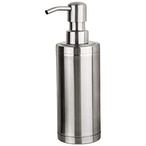 Weryffe Dispensador de jabón de acero inoxidable, níquel cepillado, dispensador de jabón líquido, botella de loción de mano, botella de cocina, baño, loción, bomba