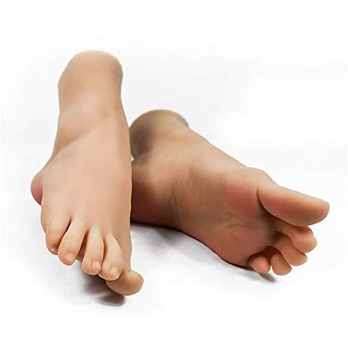 Schaufensterpuppe weiblich Fuß, 36A Flüssiges Silikon Lebensechtes Fußmodell zeigt Schuhe Schaufensterpuppen Reflexzonenmassage realistische Anzeige Fußwurzelknochen,A Pair of feet