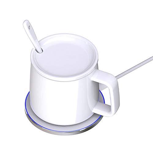 Creative Gift Coffee Mug Warmer with Wireless Chargering Coffee Mug Keep Warm about 122°F/50°C Cup Warmer Set for Home Office to Warm Coffee, Tea, Milk, Water Mug - Best Gift Idea