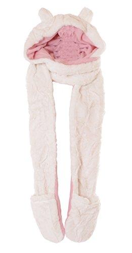 Kawaii-Story C-0 Kapuzenschal Mütze Handschuhe 240cm lang Teddy Ohren Plüsch weiß Fleece Pastel Goth Lolita Kostüm