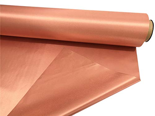 Genuine Copper Fabric Blocking RFID/RF-Reduce EMF/EMI Protection Conductive Fabric for Smart Meters Prevent from Radiation/Singal/WiFi Golden Color (100 Meters Long)