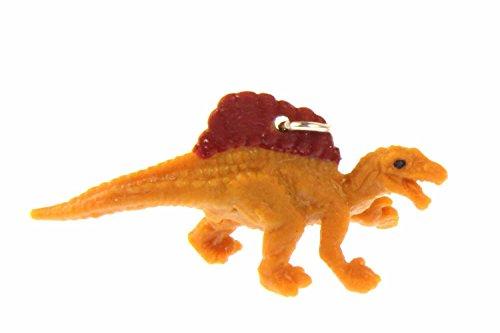 Miniblings Dinosaurio Spinosaurus Charm Dino Placa de Respaldo de Caucho en posición Vertical