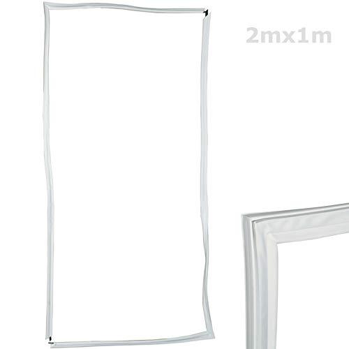 TronicXL - Junta universal para puerta de frigorífico, 2000 x 1000 mm, 2 x 1 m, junta para puerta de frigorífico, goma de sellado, compatible con muchos dispositivos de Bosch, Siemens, Miele