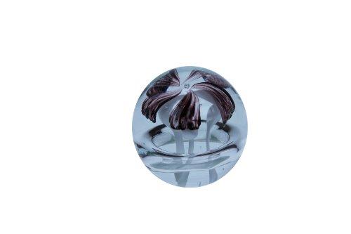 Paperweight schwarzrote Blume mit Luftring (183)