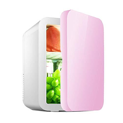 Sunfauo Mini Refrigerador Refrigerador De Coche Congelador De Cosméticos Refrigerador De Coche Puro Leche Materna Conservación De Frío Neveras Eléctricas Nevera De Campamento para Autos Pink