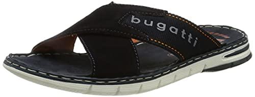 bugatti Herren 311A32811469 Flache Sandale, Dark Blue/Dark Blue, 43 EU