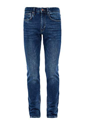s.Oliver Herren 03.899.71.5278 Slim Jeans, Blue Stretched den, W32 (Herstellergröße: 32/34)