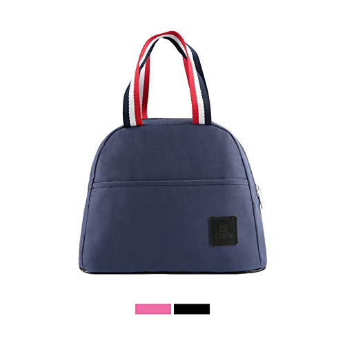 Lunch Bags for Women Tote Bag for Kids Insulated lunch box Large Lunch Container with Waterproof, Oilproof to Keep Food Cooler, Thermal for Kitchen Outdoor School Office Travel Work Handbag (BLUE)