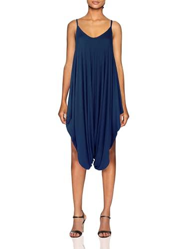 Oops Outlet, giacca da spiaggia estiva da donna, con chiusura a cinghia, per porte e porte Blu marino 42-44