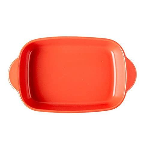 1 Piece Nordic Bakeware Binaural Baked Rice Bowl Baking Sheets Nonstick Oven Nonstick 9.5 Inches Orange