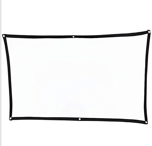 Pantalla del proyector 100 Pulgadas, Pantalla de proyección portátil FANGOR 16: 9 HD Plegable para Cine en casa Cine Interior Interior